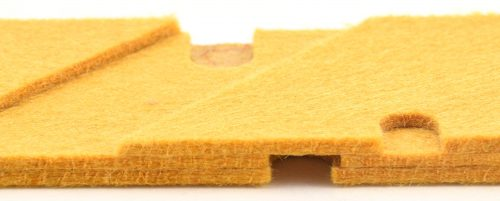 Multi-layer assembled thermal insulation, custom manufactured and die cut by American Flexible Products.
